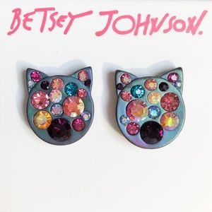 "Betsey Johnson ""And Boo To You"" Cat Earrings"